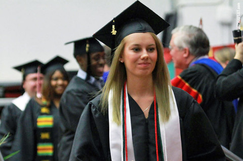 Austin Peay State University December commencement. (Courtesy: Brittney Sparn/APSU Sports Information)