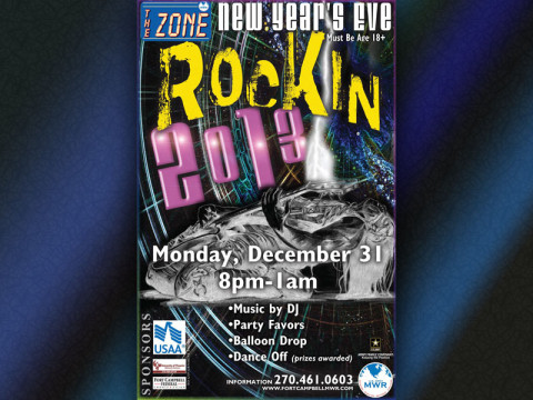 2012 New Year's Eve party at The Zone.