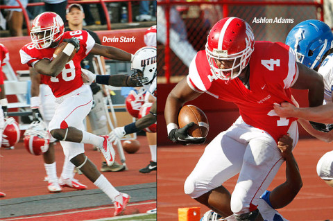 APSU's Devin Stark and Ashlon Adams play in FCS Senior Scout Bowl Saturday. (Courtesy: Austin Peay Sports Information)