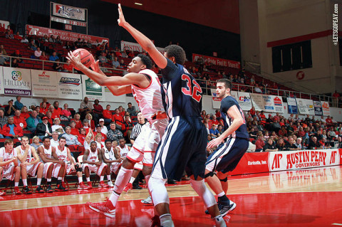 APSU Men's Basketball. (Courtesy: Brittney Sparn/APSU Sports Information)