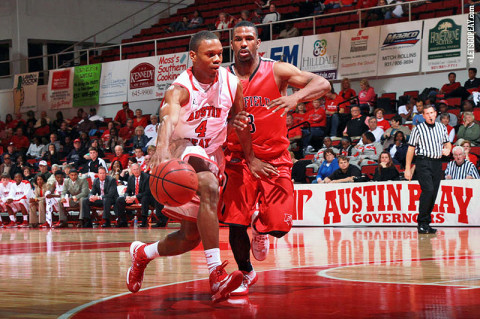 Austin Peay Men's Basketball. (Courtesy: Brittney Sparn/APSU Sports Information)