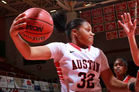 Freshman Alexis Hardaway had eight points and four rebounds in the Lady Govs loss at Arkansas State, Monday. (Courtesy: Brittney Sparn/APSU Sports Information)