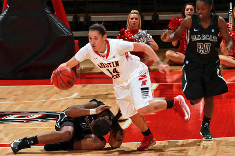 Senior Leslie Martinez scored 12 points in Austin Peay's victory against Lipscomb, Friday. (Courtesy: Brittney Sparn/APSU Sports Information)