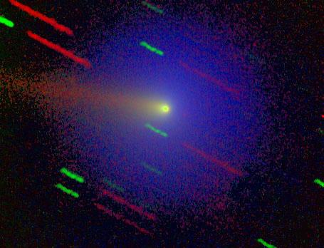 Comet Wirtanen. (Photo Max-Planck-Institut f|r Aeronomie, courtesy T. Credner, J. Jockers, T.Bonev)
