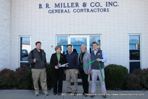 The Green Ribbon Cutting Ceremony at B. R. Miller and Co., Inc. General Contractors on December 18th, 2012