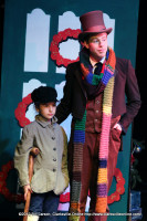 Bob Cratchit with Tiny Tim