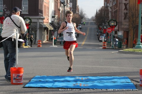 Alex Haycraft finishing the 5k with the impressive time of 17:03