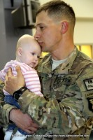 A soldier's reunion with his child