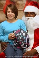 Caydee Harris with Santa Claus