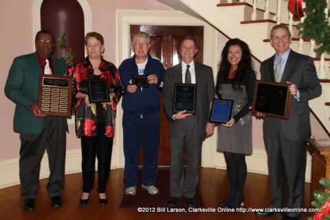 Honorees and their stand-ins at the 2012 Montgomery County Democratic Party Christmas Party