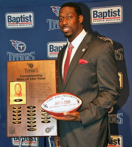 2012 Tennesse Titans Community Man of the Year Jared Cook. (Tennessee Titans Staff Photo)