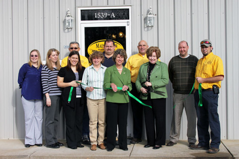 Green Certification ribbon cutting for Mainstream Heating & Cooling