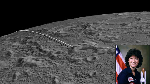 The final flight path for NASA's twin GRAIL mission spacecraft to impact the moon on December 17th. GRAIL's MoonKAM is the signature education and public outreach program led by Sally Ride Science-founded by Dr. Sally Ride, America's first woman in space.