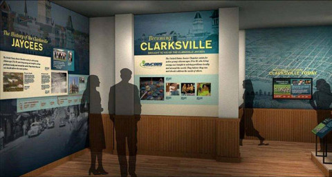 "Artist concept of Customs House's upcoming new exhibit ""Becoming Clarksville:  Honoring Legacies of Leadership"" (Image by HealyKohler Design)"