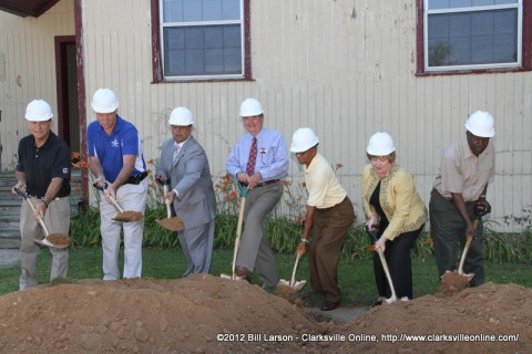 The South Guthrie Community Center groundbreaking ceremony held on May 24th, 2012.