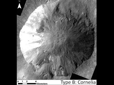 This image shows examples of long, narrow, sinuous gullies that scientists on NASA's Dawn mission have found on the giant asteroid Vesta. (Image credit: NASA/JPL-Caltech/UCLA/MPS/DLR/IDA)