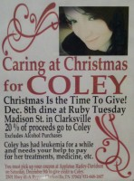 """Caring at Christmas for Coley"""