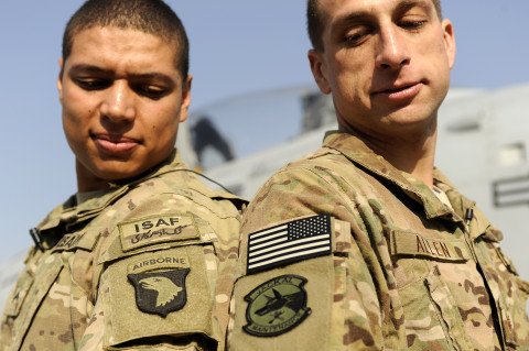 Family Ties: Two brothers spend Christmas at Bagram
