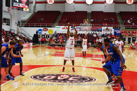 Austin Peay's Travis Betran scored 20 points in the game including a three pointer at the buzzer to win the game in overtime. Austin Peay Men's Basketball