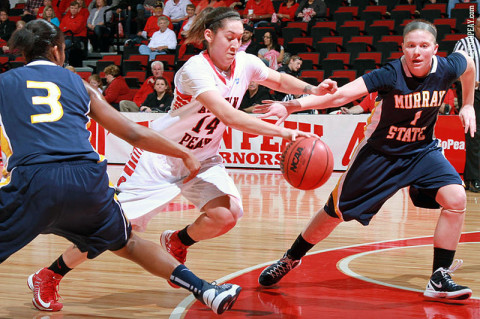 Senior Leslie Martinez led Austin Peay with 18 points and 7 assists in Monday's OVC win at Jacksonville State. (Courtesy: Brittney Sparn/APSU Sports Information)