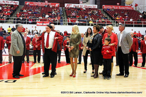 Charles Hand inducted into Austin Peay's Red Coat Society Saturday night