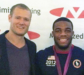 Dr. Dale Brown (L) and Jordan Burroughs (R)