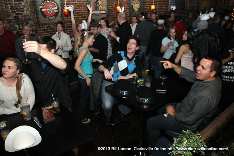 Patrons at the Blackhorse Pub and Brewery's Taproom Celebrate the arrival of the New Year.