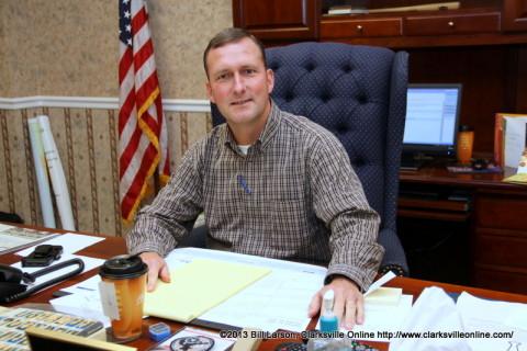 Montgomery County Sheriff John Fuson at his desk