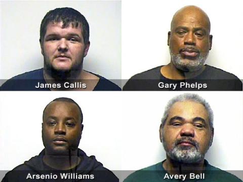 James Callis, Gary Phelps, Arsenio Williams and Avery Bell