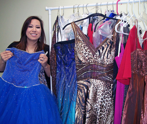 Maria Scott with Prom-O-Rama Dresses