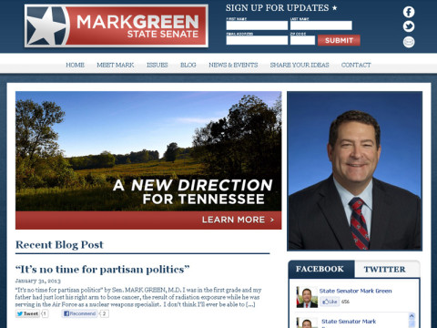 Tennessee State Senator Mark Green Launches New Website.