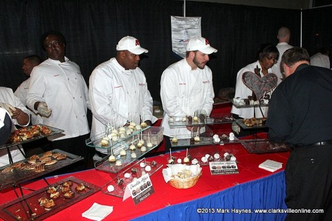 APSU Culinary Students at their booth at the Chocolate Affair community event.