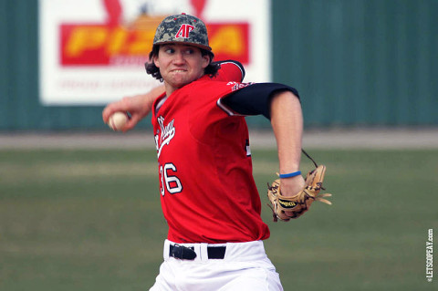 APSU Junior pitcher A.J. Gaura struck out seven in Austin Peay's victory against Iowa, Sunday. (Courtesy: Austin Peay Sports Information)