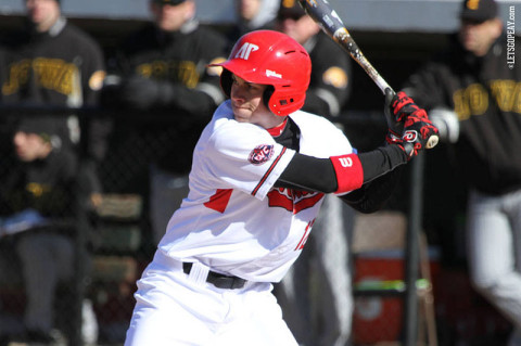 Sophomore Dylan Riner had six hits in the Govs series against Iowa, last weekend. (Courtesy: Austin Peay Sports Information)