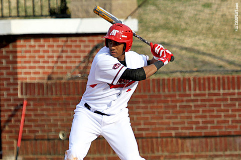 APSU Junior outfielder Rolando Gautier posted his second consecutive three-hit outing, finishing 3-for-4 against Mississippi State. Austin Peay Baseball. (Courtesy: Austin Peay Sports Information)