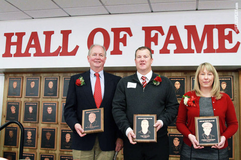 Dr. W. Cooper Beazley, Gary McClure and Andrew Lorentzson inducted into APSU Hall of Fame. (Courtesy: Brittney Sparn/APSU Sports Information)