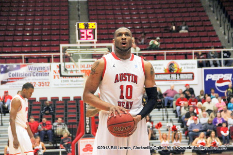 APSU's Will Triggs had 18 points and 11 rebounds in the game. Austin Peay Men's Basketball.
