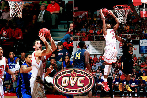 Austin Peay Governors Basketball's Anthony Campbell (left) and Chris Horton (right). (Courtesy: Brittney Sparn/APSU Sports Information)
