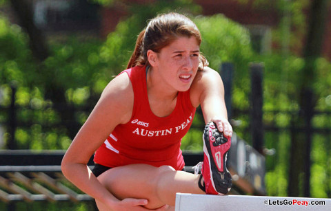 Austin Peay Women's Track and Fields' Xiamar Richards. (Courtesy: Brittney Sparn/APSU Sports Information)