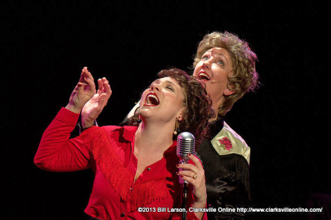 """Always... Patsy Cline"" featuring Jacque Clydesdale as Patsy Cline and Leslie Green as Louise Seger at the Roxy Regional Theatre."