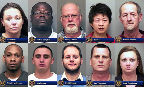 Dawn Britt, Clifford Campbell , Danny Debord, Zuo Gao, Ronald Johnson, Timothy McGowan, Luis Ramos, David Rogers, Leo Thompson, and Linda Woodhouse were arrested over the weekend by Clarksville Police for DUI.