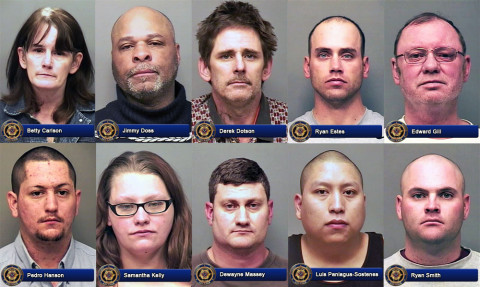 Betty Carlson, Jimmy Doss, Derek Dotson, Ryan Estes, Edward Gill, Pedro Hanson, Samantha Kelly, Dewayne Massey, Luis Paniagua-Sostenes, and Ryan Smith and  were arrested over the weekend by Clarksville Police for DUI.