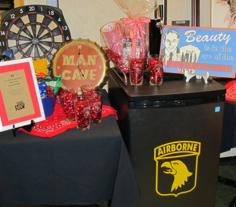 Some of the items at the 2012 Very Important Charity Event (VICE) Night-Boot Scootin' Bash
