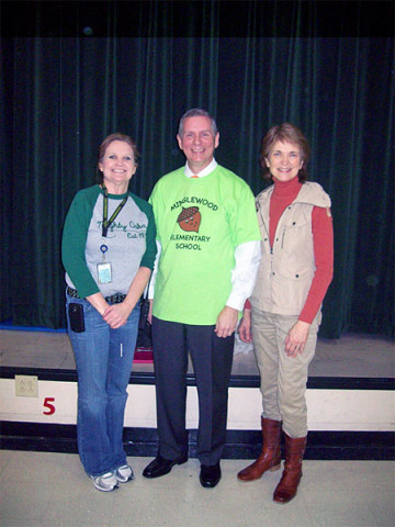From left to right, Ms. Bonnie Digby, Assistant Principal, Rep. Joe Pitts, Ms. Jane Winter, Principal