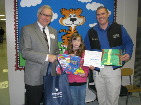 The Overall winner Olivia Nazar from East Montgomery Elementary School