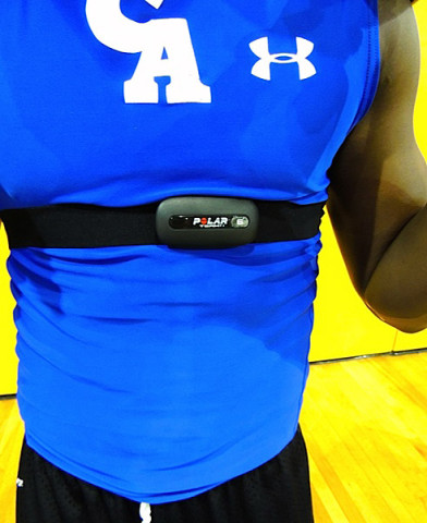Polar Cardio GX used on current football player during conditioning.