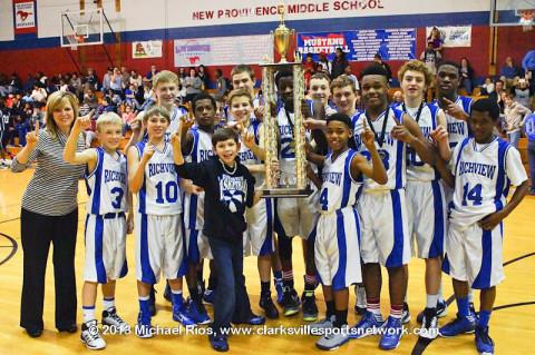 Richview Middle School Boys Champions