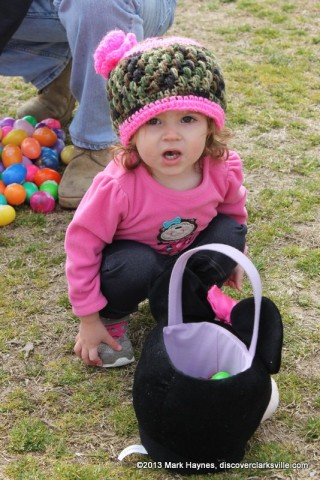 A happy child at the Easter Egg Hunt.