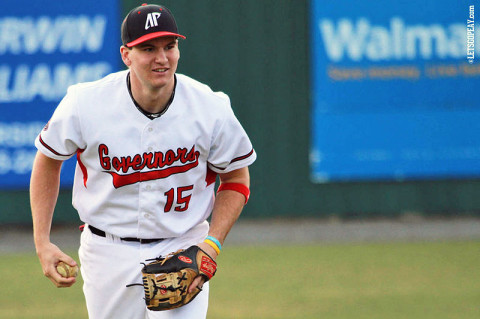 Senior shortstop Reed Harper and Austin Peay host rival Jacksonville State in a three-game Ohio Valley Conference series this weekend. (Courtesy: Brittney Sparn/APSU Sports Information)