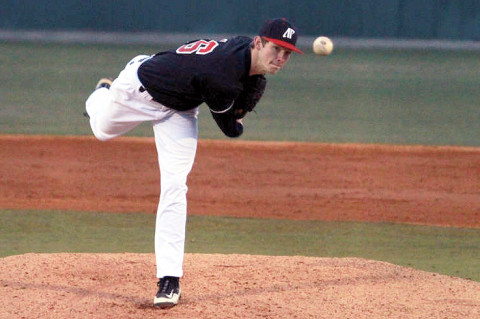 Freshman Jared Carkuff will make his season's third start at Mississippi State, Tuesday. (Courtesy: Brittney Sparn/APSU Sports Information)